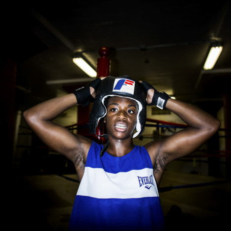 Claressa Shields training at FWC Berston, her hometown gym in Flint, Michigan.