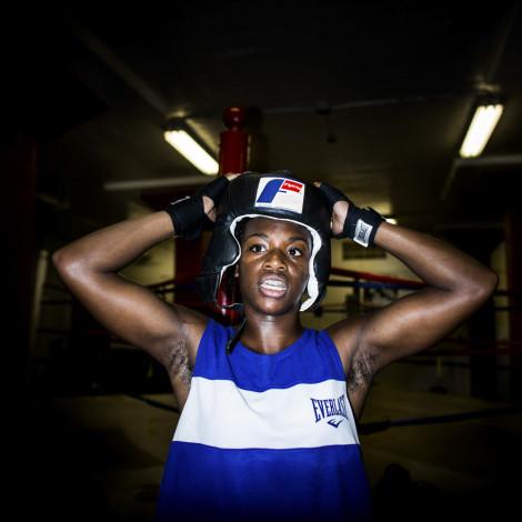 Claressa Shields training at FWC Berston, her hometown gym in Flint, Michigan.